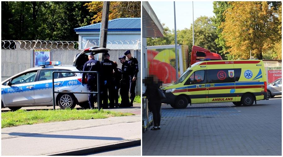 Policja i pogotowie obok jednej z kutnowskich Biedronek. Co się stało? [ZDJĘCIA] - Zdjęcie główne
