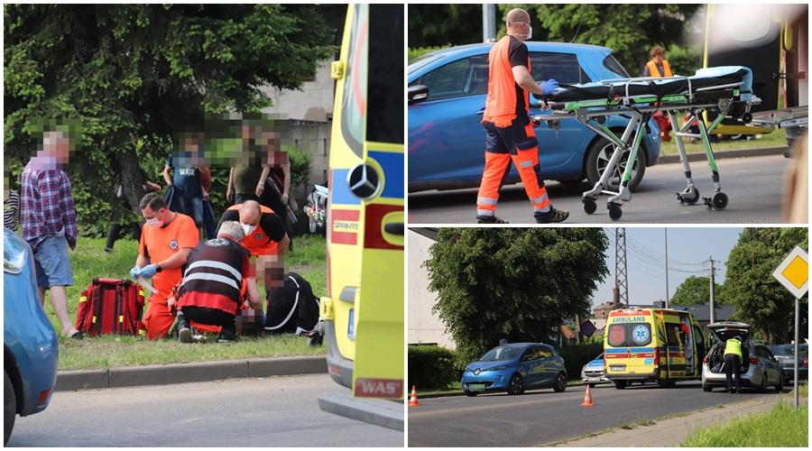 Potrącenie dziecka przy targowicy w Kutnie. Chłopiec zabrany do szpitala do Łodzi [ZDJĘCIA] - Zdjęcie główne
