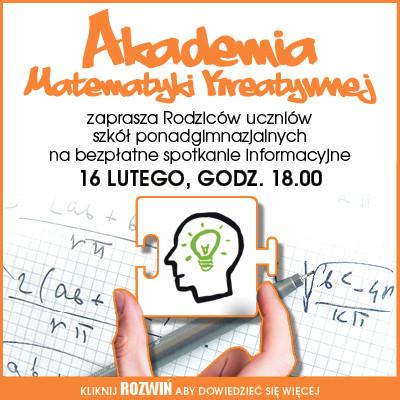 Akademia Matematyki Kreatywnej zaprasza Rodziców! - Zdjęcie główne