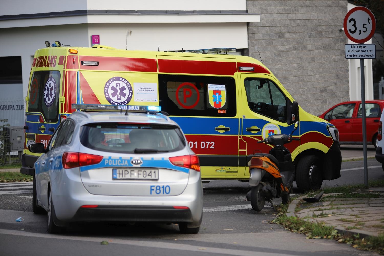 Wypadek w Kutnie, ranna kobieta. Na miejscu policja i pogotowie [ZDJĘCIA] - Zdjęcie główne
