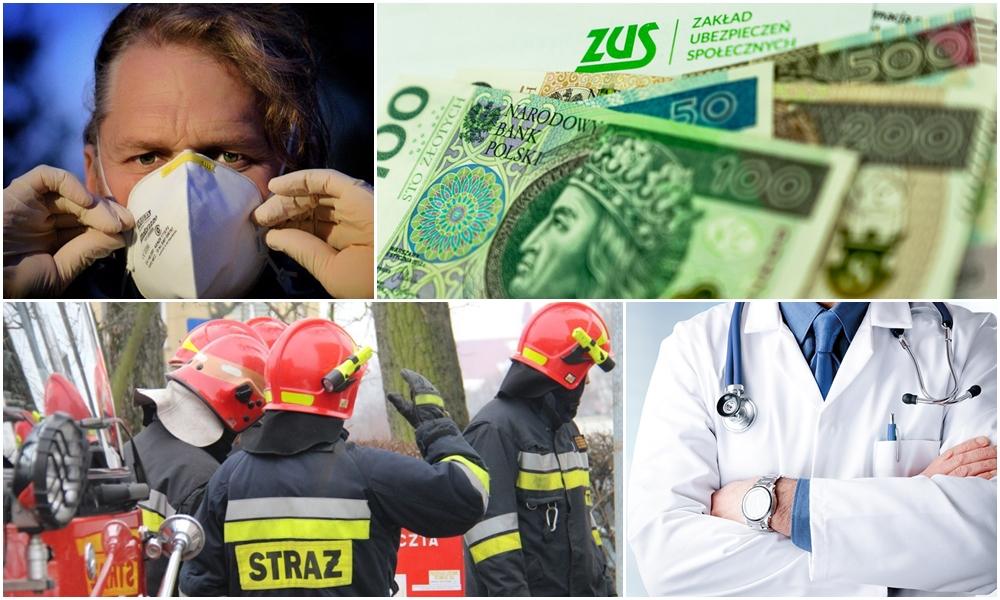 Medycy i strażacy ochotnicy dostaną 100-procentowe zasiłki. Chodzi o COVID-19 - Zdjęcie główne