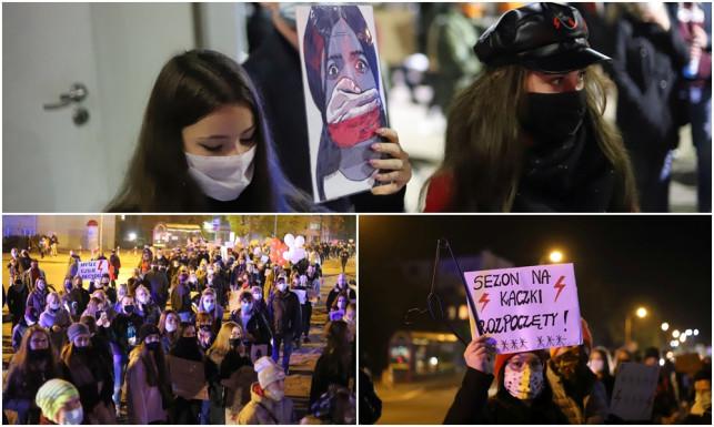 [ZDJĘCIA] Za nami kolejny protest, tłumy znów przeszły ulicami Kutna. ''To jest wojna'' - Zdjęcie główne