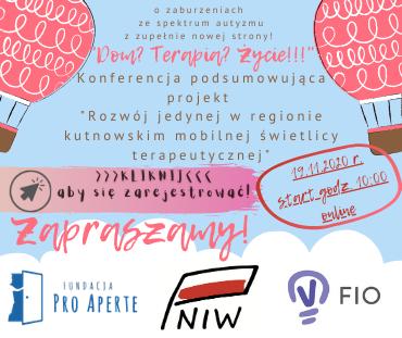 """Konferencja podsumowująca  projekt """"Rozwój jedynej w regionie kutnowskim mobilnej świetlicy terapeutycznej"""". - Zdjęcie główne"""