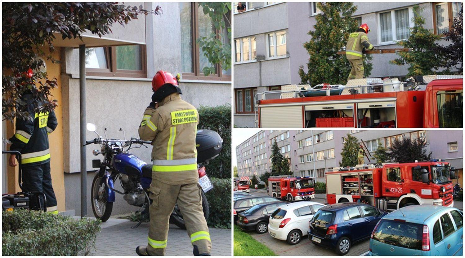Akcja straży na kutnowskim osiedlu. Zgłoszenie o pożarze w bloku [ZDJĘCIA] - Zdjęcie główne