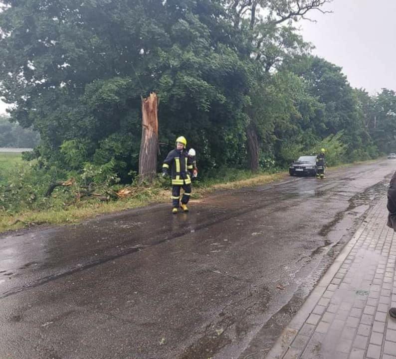 Wichura przeszła przez powiat. Wiało krótko, ale intensynie, interweniowali strażacy [ZDJĘCIA] - Zdjęcie główne