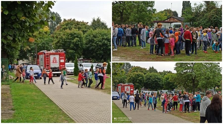 Ewakuacja uczniów w kutnowskiej szkole podstawowej. Co się stało? [ZDJĘCIA] - Zdjęcie główne
