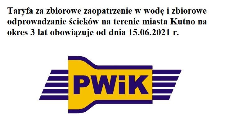 PWiK Sp. z o.o. w Kutnie  - Taryfa za zbiorowe zaopatrzenie w wodę i zbiorowe odprowadzanie ścieków  - Zdjęcie główne