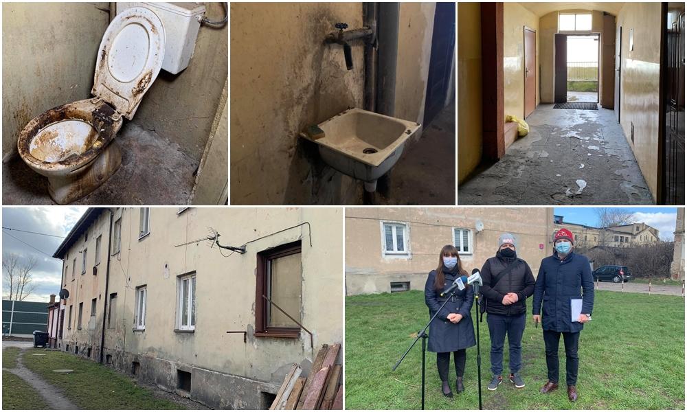 [ZDJĘCIA] W takich warunkach żyją lokatorzy kamienic przy ul. Mickiewicza. Przedstawiciele KO interweniują - Zdjęcie główne
