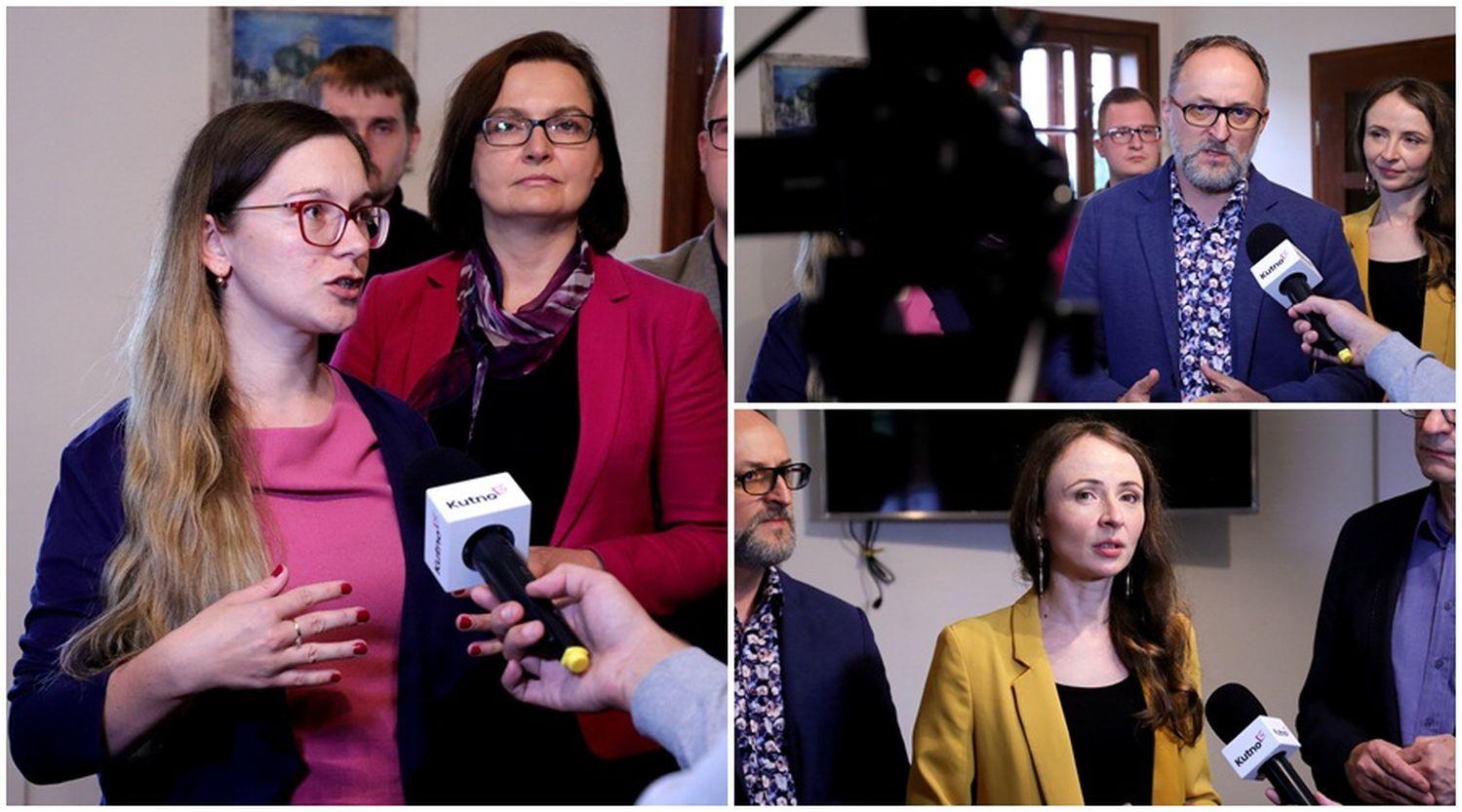 """W Kutnie rozmawiali o szkołach. """"Minister Czarnek walczy z urojoną ideologią LGBT, lewactwem i wrogami chrześcijaństwa"""" [ZDJĘCIA/WIDEO] - Zdjęcie główne"""