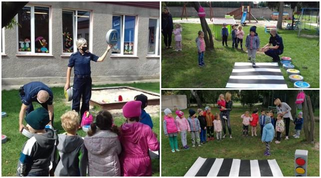 [ZDJĘCIA] Nauka poprzez zabawę. Kutnowscy policjanci spotkali się z przedszkolakami - Zdjęcie główne