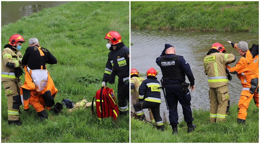 Kutno: Z rzeki wyłowiono zwłoki [ZDJĘCIA] - Zdjęcie główne