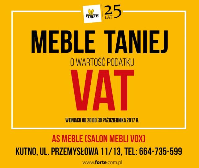 Meble taniej o wartość podatku VAT - Zdjęcie główne