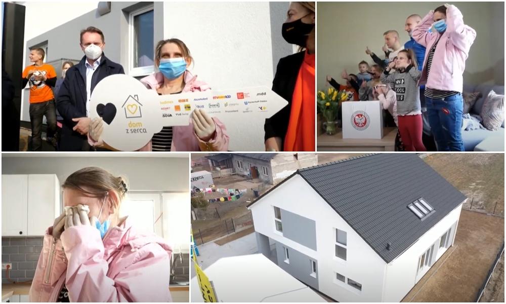 [WIDEO] Matka 15 dzieci odebrała klucze do nowego domu. Jest ogromny i w pełni wyposażony - Zdjęcie główne