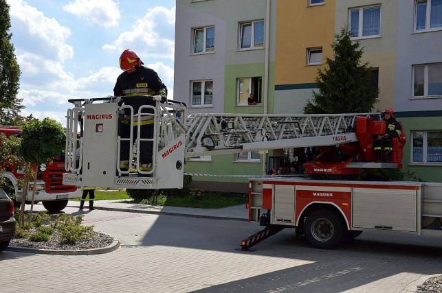 Pożar w mieszkaniu w Kutnie. Straż ewakuowała dwie osoby - Zdjęcie główne