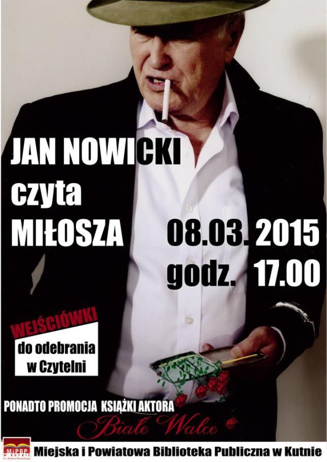 Spotkania z poezją - Jan Nowicki w MiPBP - Zdjęcie główne