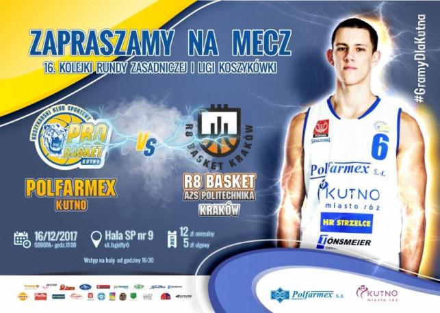 mecz Polfarmex Kutno vs R8 Basket AZS Politechnika Kraków - Zdjęcie główne