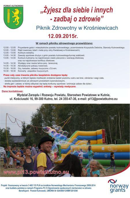 Piknik Zdrowotny w Krośniewicach - Zdjęcie główne