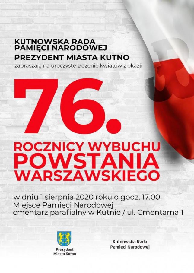 Kutno odda cześć Powstańcom Warszawskim - Zdjęcie główne