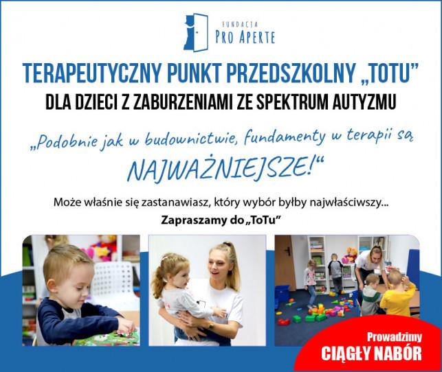 """Terapeutyczny Punkt Przedszkolny """"ToTu"""" - Rekrutacja - Zdjęcie główne"""