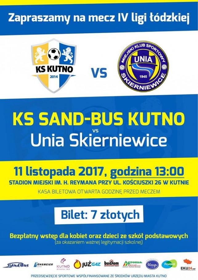 KS SAND-BUS KUTNO vs Unia Skierniewice - Zdjęcie główne