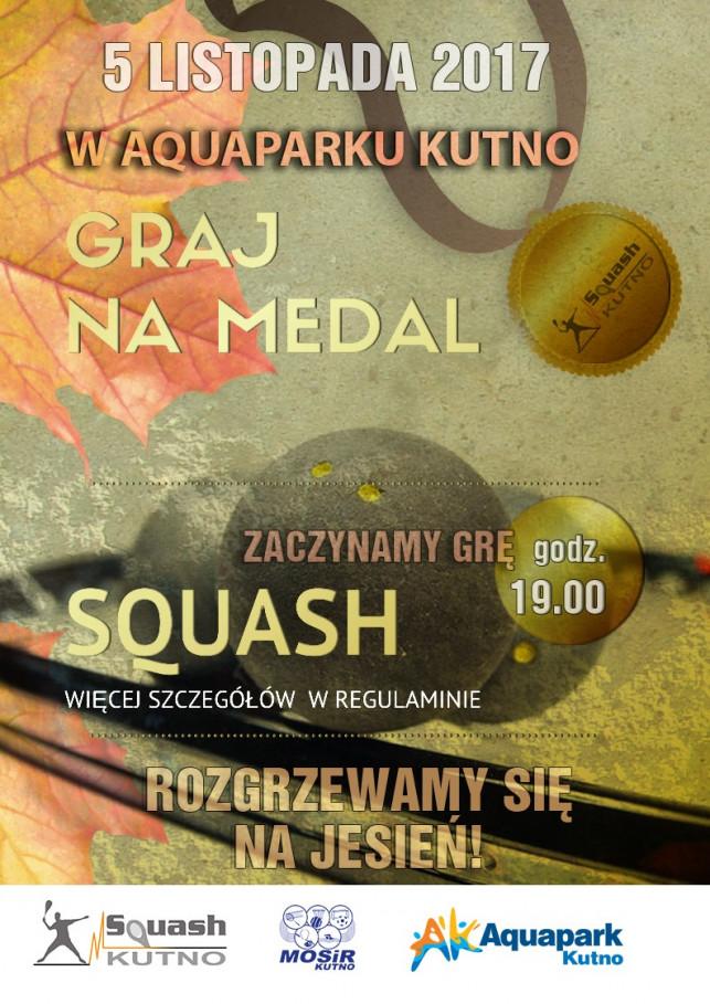 Graj na medal - squash w Aquaparku - Zdjęcie główne