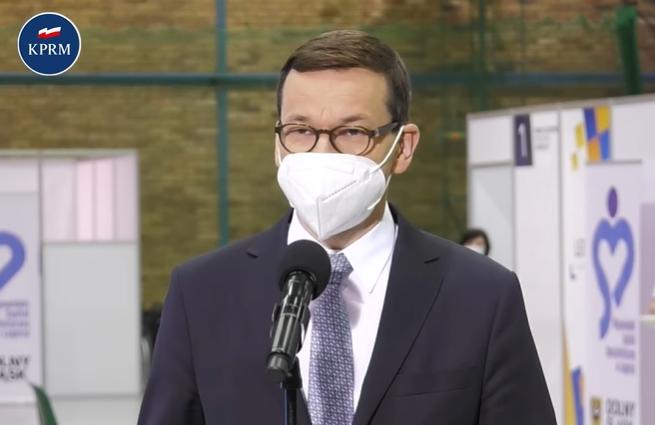 [WIDEO] Morawiecki: chcemy, aby od 10 maja każdy dorosły obywatel mógł zapisać się na szczepienie - Zdjęcie główne