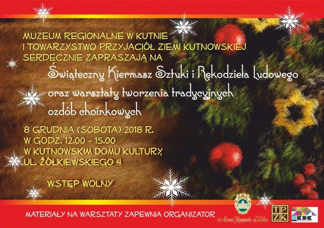 Świąteczny Kiermasz Sztuki i Rękodzieła Ludowego już w sobotę! - Zdjęcie główne