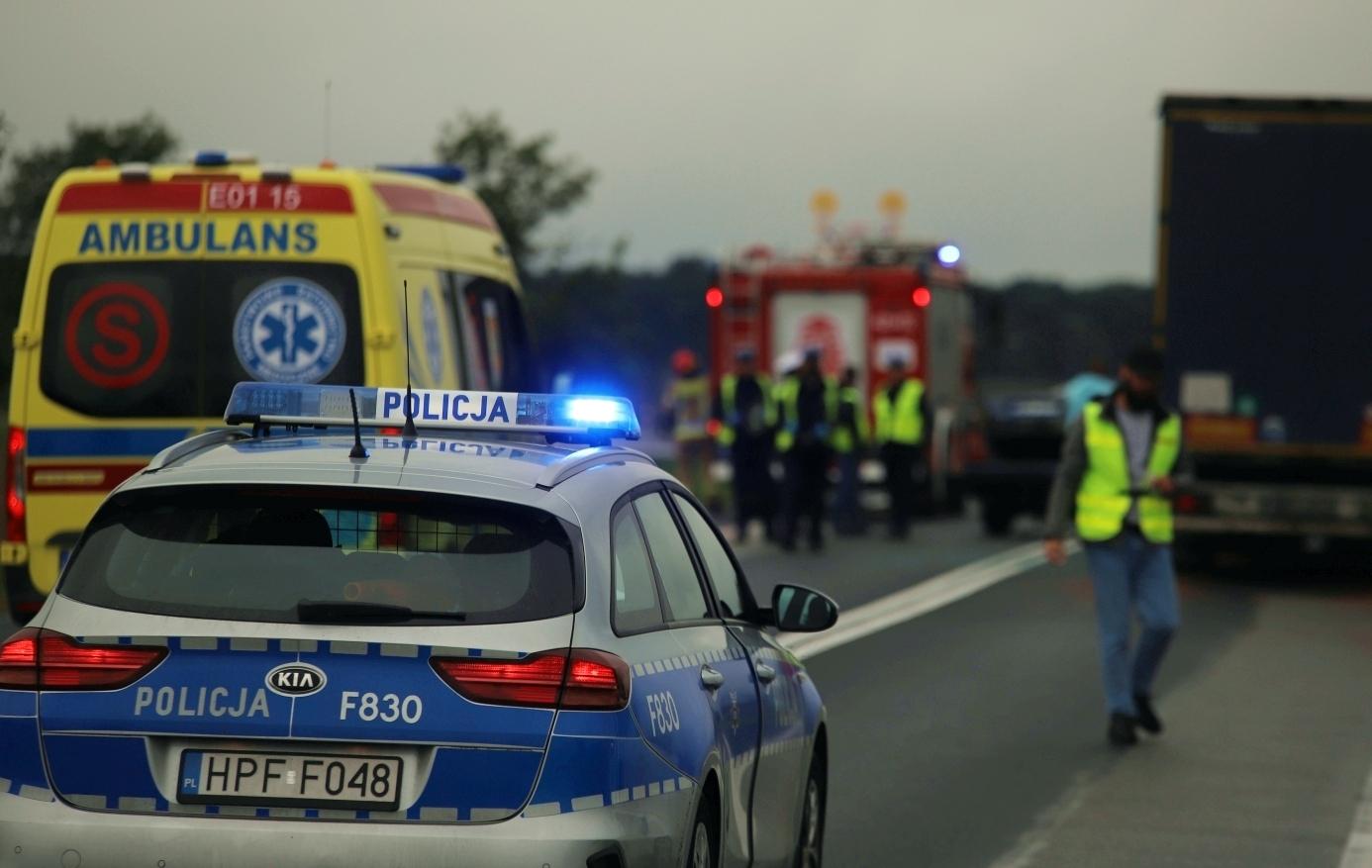 Groźny wypadek pod Kutnem. Służby w akcji, są utrudnienia w ruchu - Zdjęcie główne