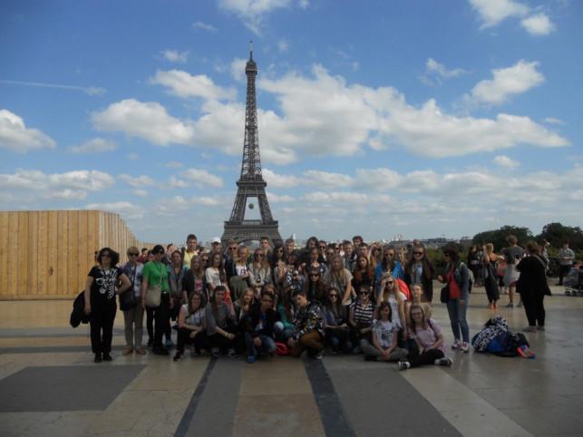 Uczniowie z Byszewa i Gołębiewka w Paryżu - Zdjęcie główne