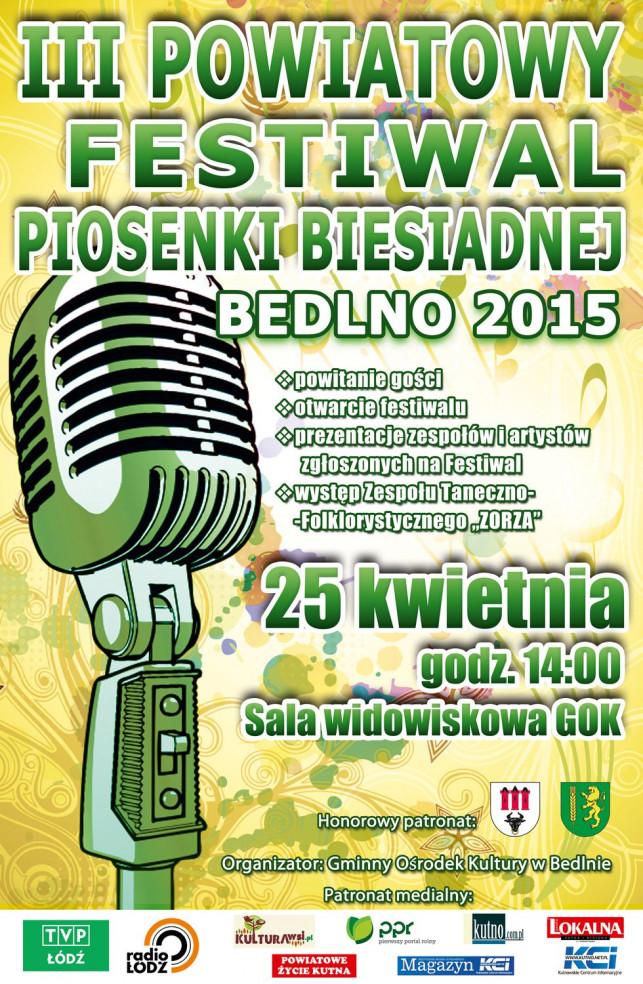 III Powiatowy Festiwal Piosenki Biesiadnej - Bedlno 2015 - Zdjęcie główne