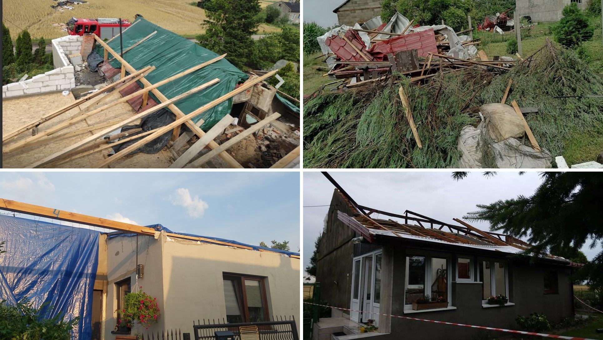 Nawałnica pozbawiła ich dachu nad głową. Poszkodowane rodziny błagają o pomoc [ZDJĘCIA] - Zdjęcie główne