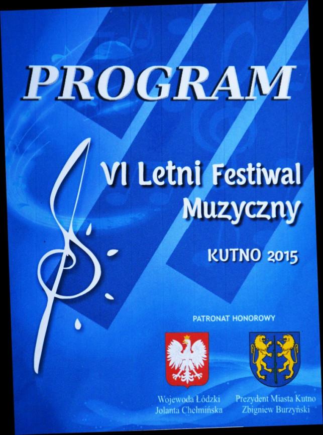 VI Letni Festiwal Muzyczny Kutno 2015 - Zdjęcie główne