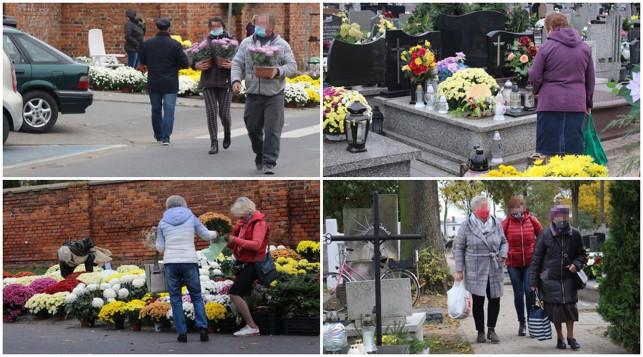 [ZDJĘCIA] Wszystkich Świętych z pandemią w tle. Kutnianie już ruszyli na cmentarze - Zdjęcie główne