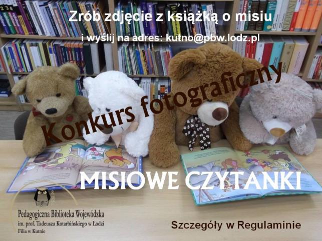 """Konkurs fotograficzny """"Misiowe czytanki""""  - Zdjęcie główne"""