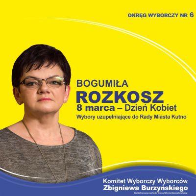 Kandydatka na radną Rady Miasta Kutno - Bogumiła Rozkosz - Zdjęcie główne
