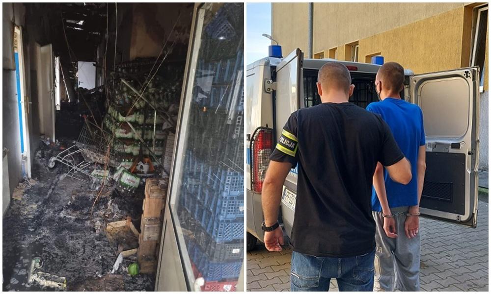 Policja komentuje zatrzymanie podejrzanego o podpalenie marketu. Grozi mu do 10 lat więzienia [ZDJĘCIA] - Zdjęcie główne