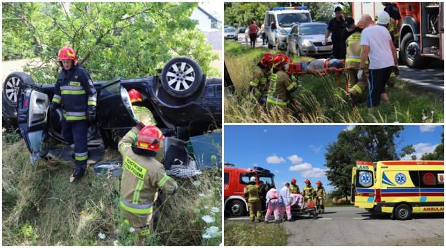 [FOTO] Uderzył w drzewo i dachował. Policja: ''Kierowca prawdopodobnie...'' - Zdjęcie główne