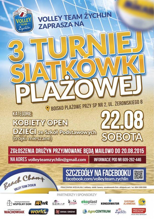 3 Turniej Siatkówki Plażowej w Żychlinie - Zdjęcie główne