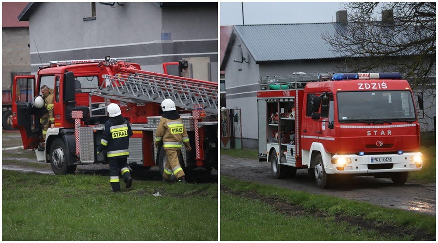 [ZDJĘCIA] Pożar w gospodarstwie. Na miejscu strażacy z Kutna - Zdjęcie główne