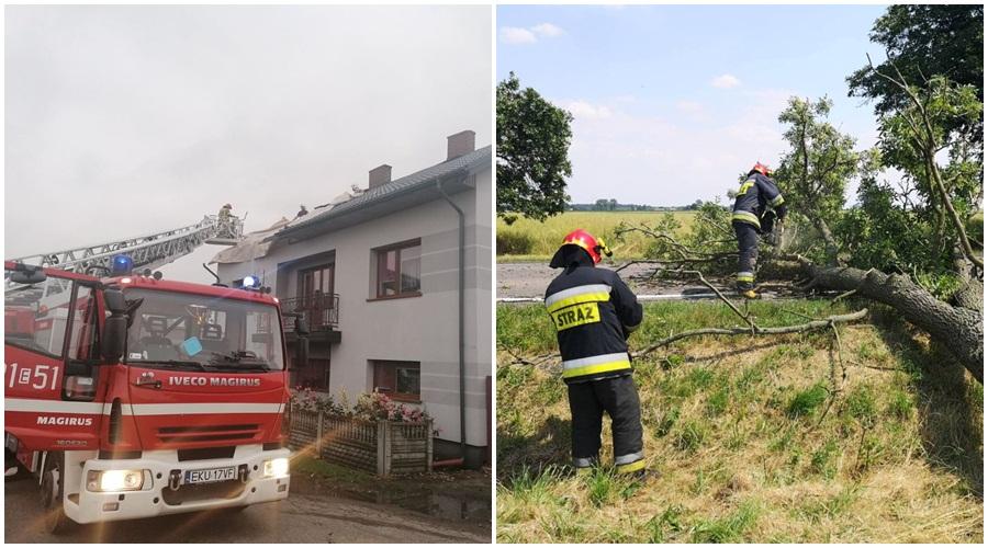 Żywioł pokazał siłę. Prawie 50 uszkodzonych dachów w powiecie kutnowskim! [ZDJĘCIA] - Zdjęcie główne