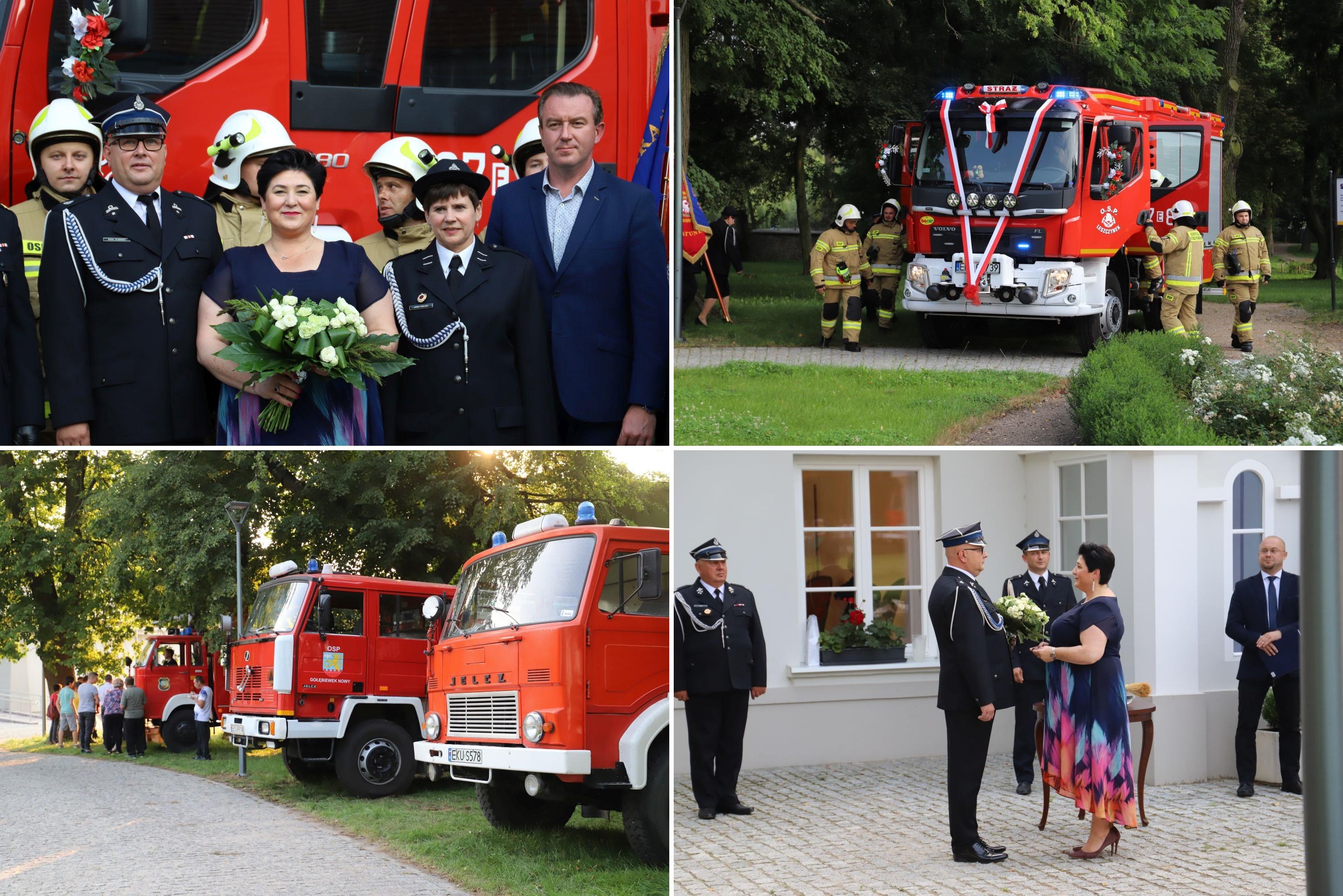 OSP z powiatu kutnowskiego z nowym wozem. Wielkie strażackie święto w Leszczynku [ZDJĘCIA] - Zdjęcie główne
