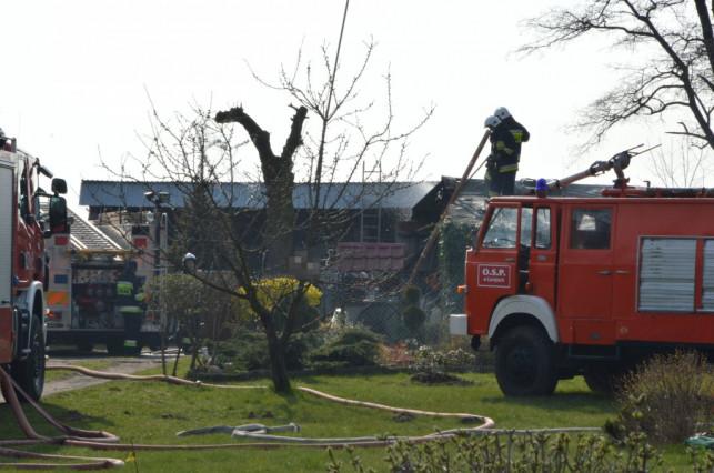 Pożar w gminie Łanięta. Płonął budynek gospodarczy - Zdjęcie główne