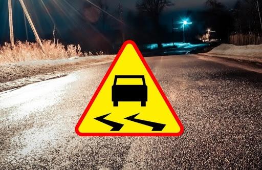 """""""Szklanka"""" na drogach powiatu kutnowskiego. Meteorolodzy wydali ostrzeżenie - Zdjęcie główne"""