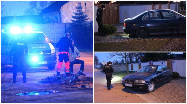[ZDJĘCIA] Kierowca BMW potrącił rowerzystę, porzucił samochód i uciekł! - Zdjęcie główne