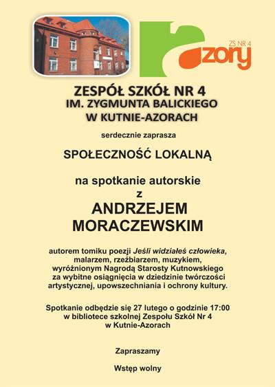 Spotkanie autorskie z Andrzejem Moraczewskim - Zdjęcie główne