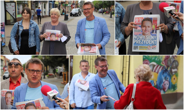[ZDJĘCIA] Senator i posłanka agitowali w Kutnie. ''Jeśli nie wybierzemy Trzaskowskiego, wrócimy do komuny'' - Zdjęcie główne
