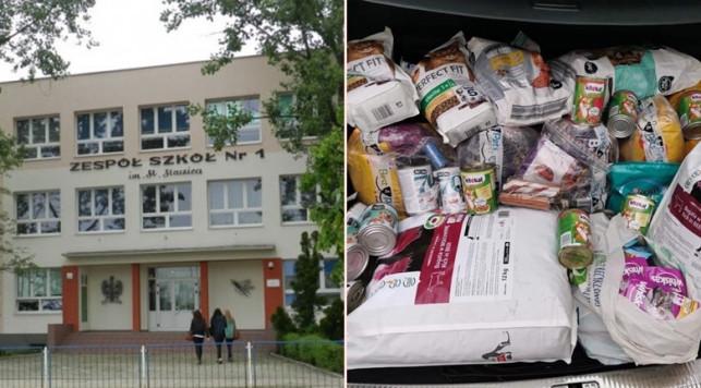 Gołębie serca uczniów ''Staszica''. Zakupili karmę dla potrzebujących zwierząt - Zdjęcie główne