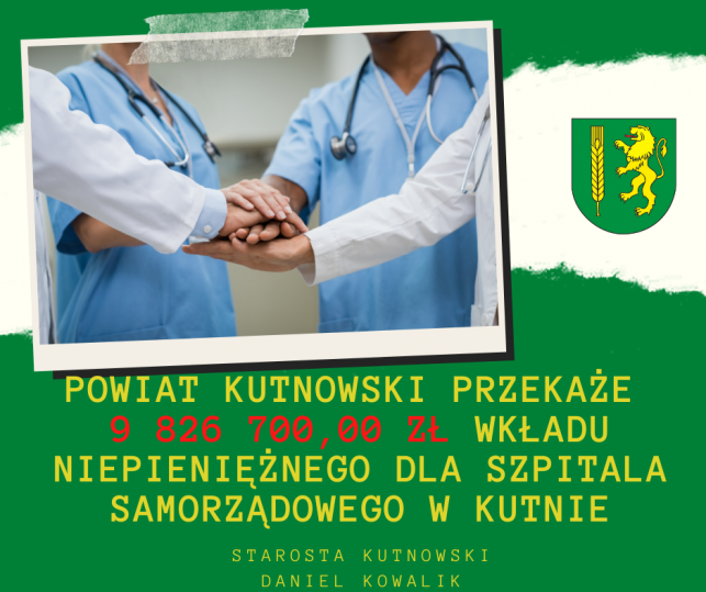 Powiat  Kutnowski  wspiera  szpital - Zdjęcie główne