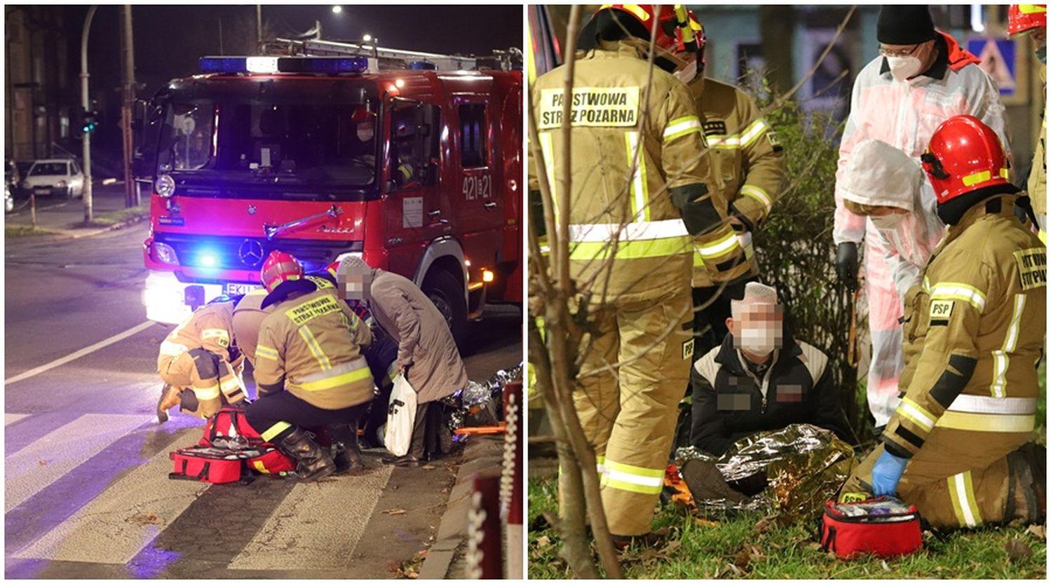 [ZDJĘCIA] Akcja służb w Kutnie. Poszkodowany mężczyzna trafił do szpitala - Zdjęcie główne