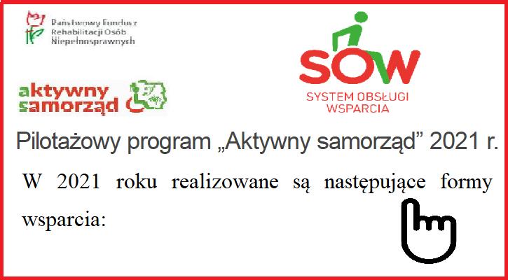 """Pilotażowy program """"Aktywny samorząd"""" 2021 r.- PROMOCJA - Zdjęcie główne"""